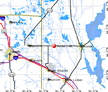 Cutler, WI map