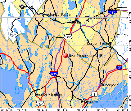 New Gloucester, ME map