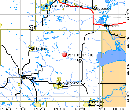 Pine River, WI map