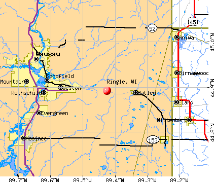 Ringle, WI map