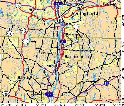 Enfield, CT map