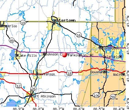 Farmington, WI map