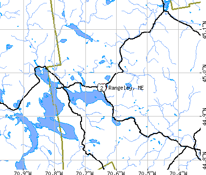 Rangeley, ME map