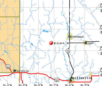 Willard, WI map