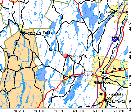 Readfield, ME map