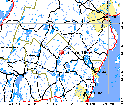 Appleton, ME map