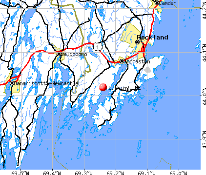 Cushing, ME map