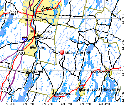 Whitefield, ME map