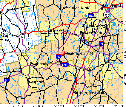 Southington, CT map