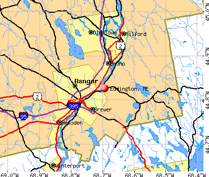 Eddington, ME map