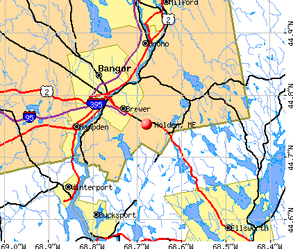 Holden, ME map