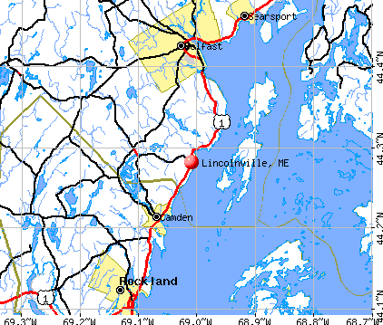 Lincolnville, ME map