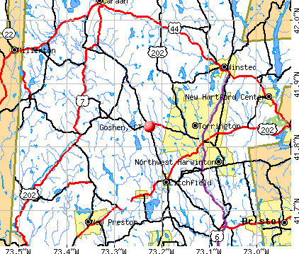 Goshen, CT map