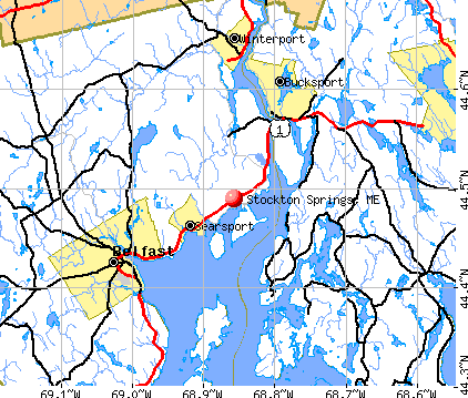 Stockton Springs, ME map