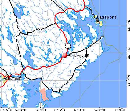Whiting, ME map