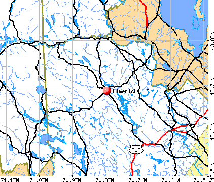 Limerick, ME map