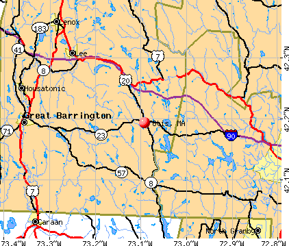 Otis, MA map