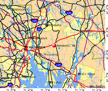 Rehoboth, MA map