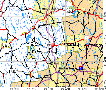 Thomaston, CT map