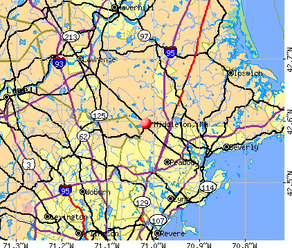 Middleton, MA map