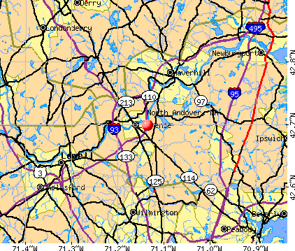 North Andover, MA map