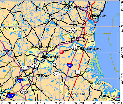West Newbury, MA map
