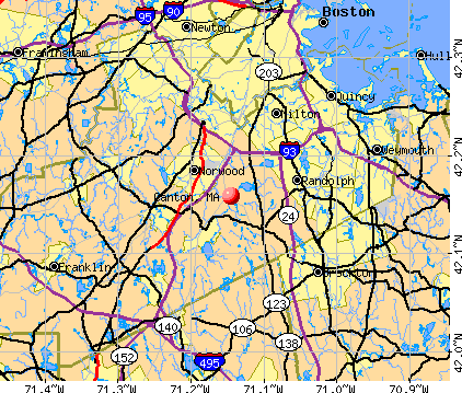Canton, MA map