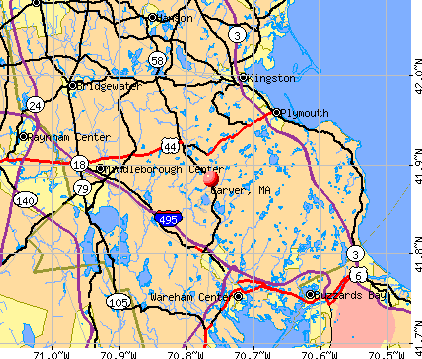 Carver, MA map