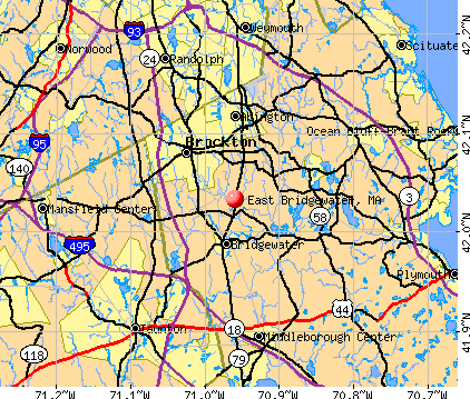 East Bridgewater, MA map