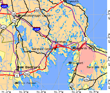 Wareham, MA map