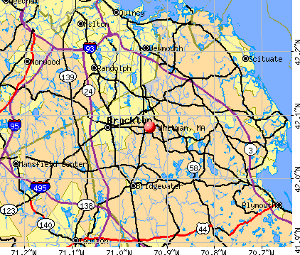 Whitman, MA map