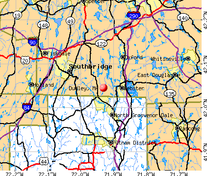 Dudley, MA map
