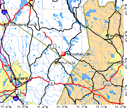 Barnstead, NH map
