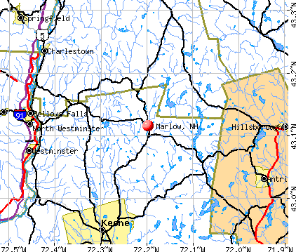 Marlow, NH map