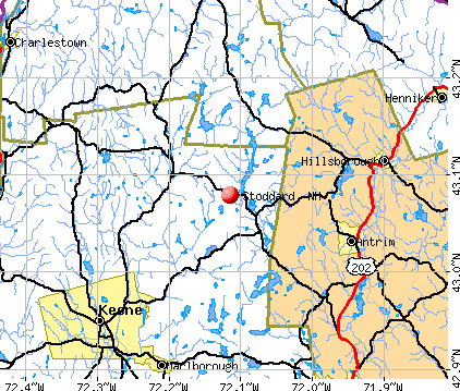 Stoddard, NH map