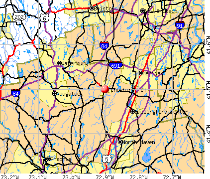 Cheshire, CT map