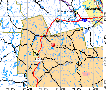 Deering, NH map
