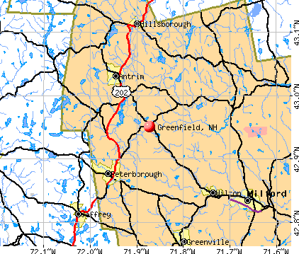 Greenfield, NH map