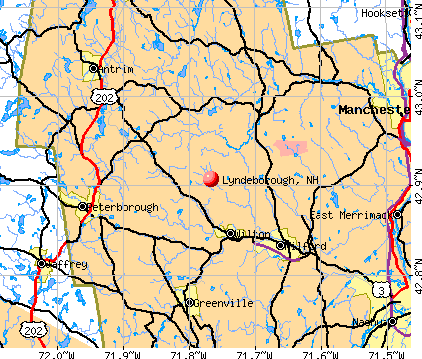 Lyndeborough, NH map