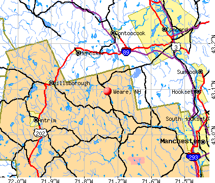 Weare, NH map