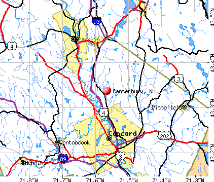 Canterbury, NH map