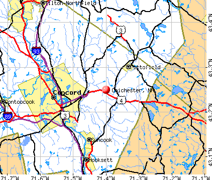 Chichester, NH map