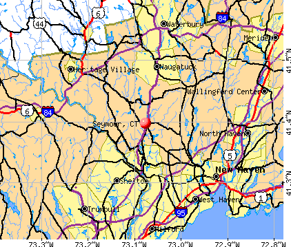Seymour, CT map