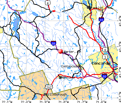 Warner, NH map