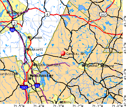 Candia, NH map