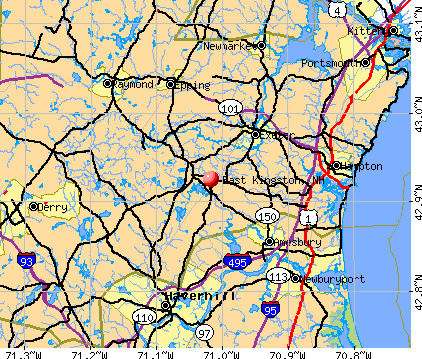 East Kingston, NH map