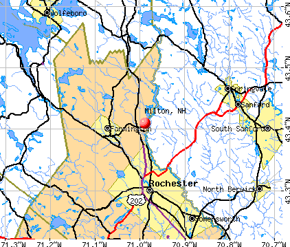 Milton, NH map