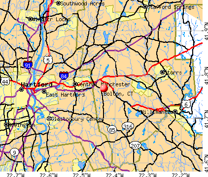 Bolton, CT map