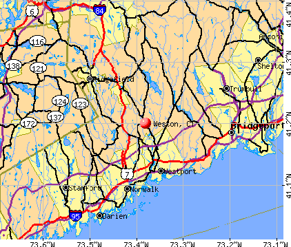Weston, CT map