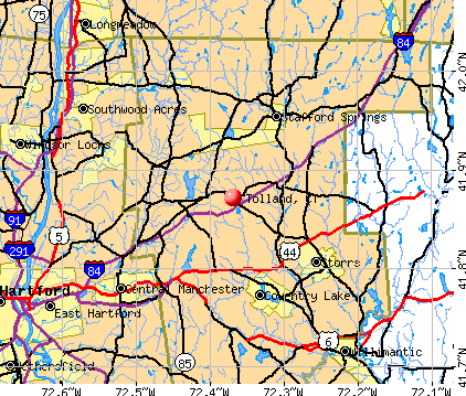 Tolland, CT map
